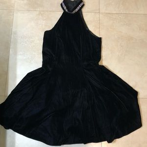 Hampton Nites Black High Neck Dress
